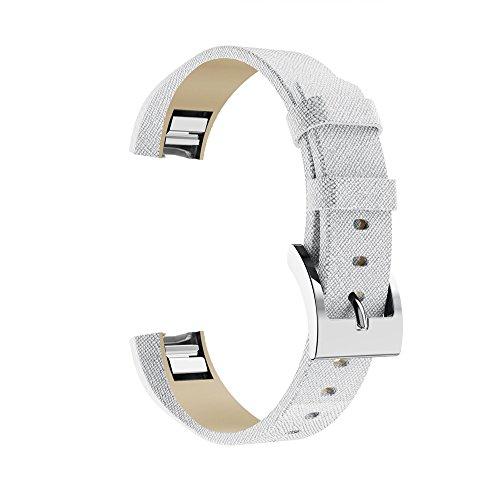 Correa para Fitbit Alta/Alta HR - Moda Correa de Cuero Brillante - Ajustable Reemplazo Pulsera Correa de Reloj Banda de Reloj Accesorios para Hombre Mujer Baohooya