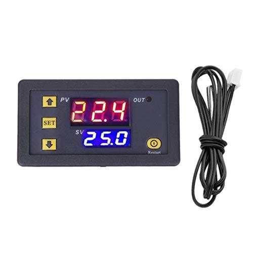 Nihlsen Controlador de temperatura de alta precisión W3230, módulo de termostato de pantalla digital, placa de control de temperatura micro