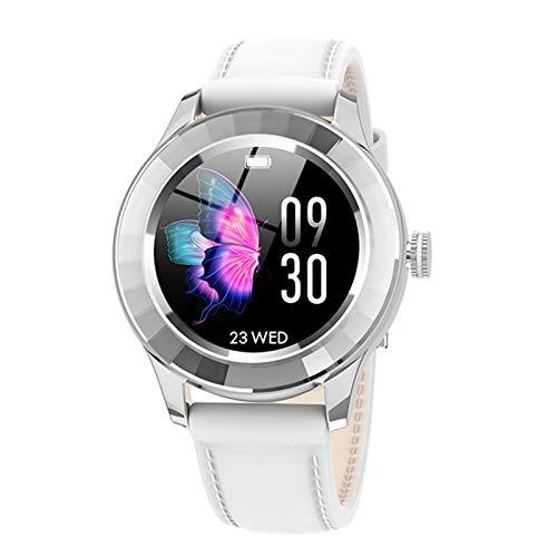 Ake Pantalla Redonda táctil Completa IP67 SmartWatch Femenino Monitor de Ritmo cardíaco Monitoreo de sueño Android iOS,E