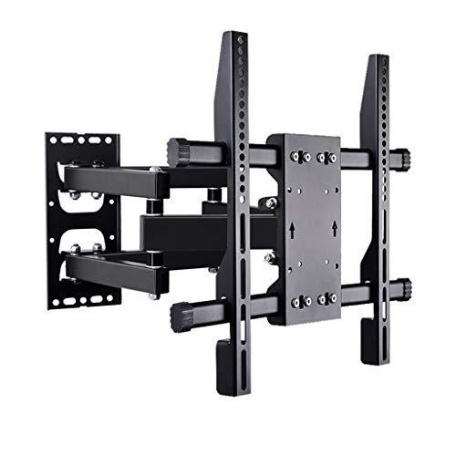 RENJUN- TV-Wandhalterung Kippen Und Drehen Kompatibel Von 100x100mm Bis 400x400mm Ultradünne Gelenkwandhalterung Gewicht Bis Zu 45 Kg Schwarz