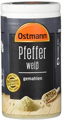 Ostmann Pfeffer weiß gemahlenahlen, 4er Pack (4 x 45 g)