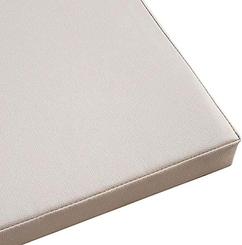 HZYDD Cobertura de cojín elástico Sofá Cojín Cojín Cojín Cojín, Sofá de Cuero Impermeable Durable Silla Cubierta Muebles Cubierta Protectora-Blanco 40x40x5cm (Color : White, Size : 40x40x8cm)