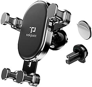 Tekpatt Gravity Car Phone Holder, Universal Air Vent Car Mobile holder, 2 in 1 Universal Mobile Holder, Vehicle mount Car ...
