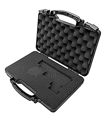 SOCOM Black - Cedar Mill Firearms Pick and Pluck Foam Hard Lockable Pistol Gun Case for Carrying 9mm Handguns & Revolvers Airline TSA Approved Flight Travel Safe non Waterproof +Storage