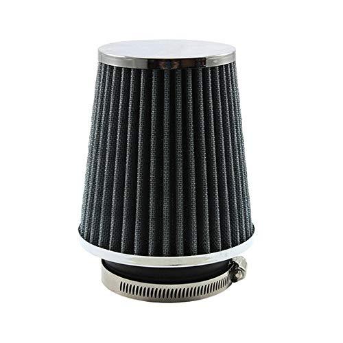 Filtro de aire de coches 76 mm 3 pulgadas de alto flujo de automóvil Filtro de admisión de aire frío de aluminio Tela no tejida Manguera de admisión de aire a prueba de herrumbre ( Color : Silver )