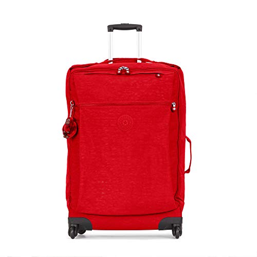 Kipling Darcey Large Rolling Luggage, 360 Degree Spinning Wheels, Telescoping Handle, Cherry Tonal