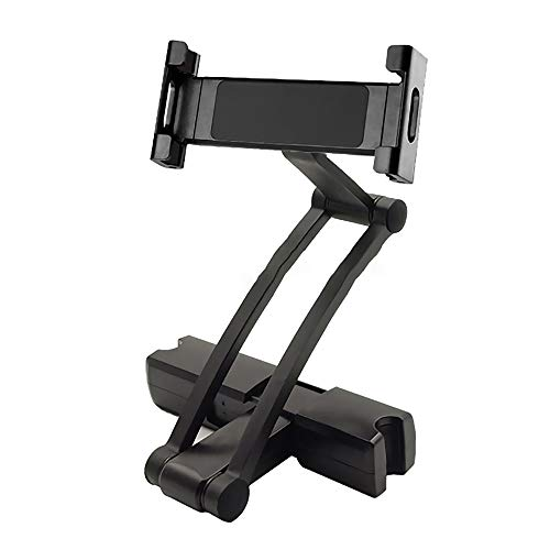 Soporte de aluminio para reposacabezas de asiento trasero para tablet de 5 a 13 pulgadas, iPhone iPad Air Mini 2 3 4 Pro 12.9, soporte (negro)