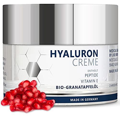 Hyaluron Anti Aging Feuchtigkeitscreme - mit Bio-Granatapfelkern-Öl - vegane Hyaluronsäure Creme...