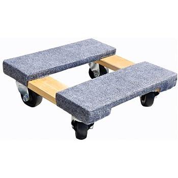 Milwaukee Hand Trucks 33815 Gleason Carpeted End Furniture Dolly, 800 Lb, L X 15 in W, Hardwood