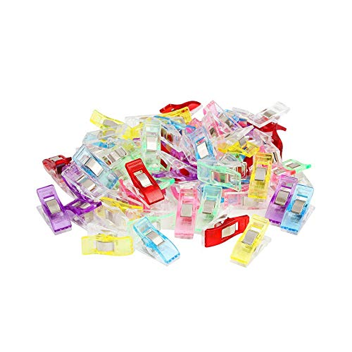 Pack of 180 Multicolor Plastic Clips,Multipurpose Sewing Clips,All Purpose Craft Clips, Quilting Clips,Crafters,Crochet and Knitting for Quilting Binding Clips,Paper Clips,blinder Clips.