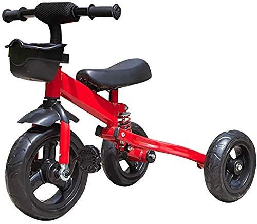 JINHH Pequeña Bicicleta, Triciclo Plegable Kid Bicicletas 1