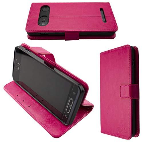 caseroxx Tasche für Doro 8035 Bookstyle-Hülle in pink Cover Buch