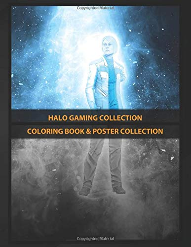 Coloring Book & Poster Collection: Halo Gaming Collection Elizabith Halsey Halo Comics