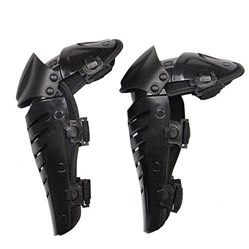 Moto Rodilleras Protectores Caballero al Aire Libre a Campo través Pierna Romper-Resistente Rodilleras Color Negro
