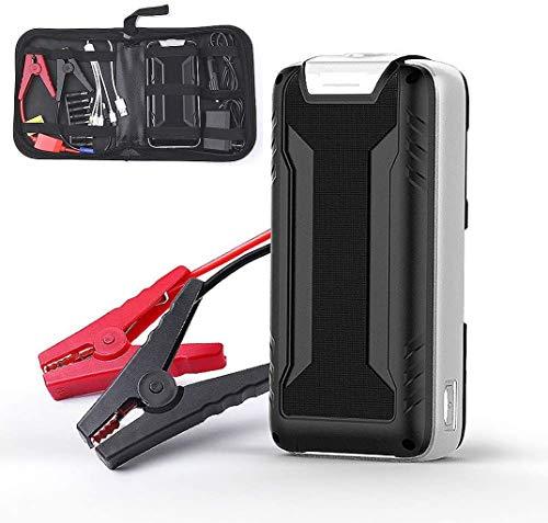 Metdek Cargador de arranque para coche de 5 litros, cargador portátil externo de 16000 mAh y 600 A con carga USB
