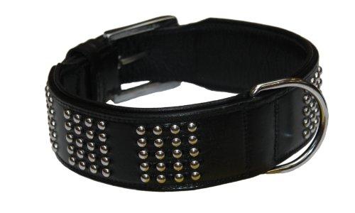"""Nobby Leder Halsband """"VINTO"""" schwarz 60 cm (53-58 cm); 50 mm"""