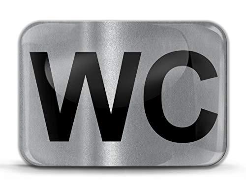 Biomar Labs® 1 x 3D Gel Pegatina WC Inodoro Puerta Baño Silicona Adhesivo El Signo Etiqueta Hombre Mujer Plata Sticker KS 208