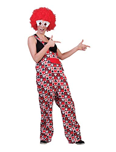 Funny Fashion Kartenspiel Poker Herz Pik Karo Kreuz Latzhose Unisex Kostüm Spieler Tarot Clown Hose