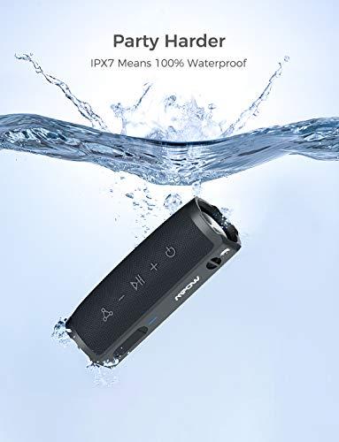 MPOW Soundhot R9 Altavoz Bluetooth a Prueba de Agua, Altavoz portátil IPX7 con 10H de Tiempo de reproducción, Modo PartyCast, Sonido estéreo de 16W, Bluetooth 5.0, para el hogar, al Aire Libre