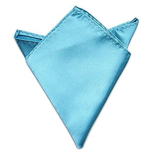 ZSZJ Bufanda de Seda 5pcs Satin Satin Silip Silip Trajes de Pocket Square Head Bufanda Pulsera Toalla Bufanda de Babero (Color : Light Blue)