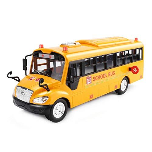 MJS Simulación de la Escuela de inercia de autobuses Escolares Juguetes del Coche Modelo de la iluminación Juguetes educativos for niños de Coches de Juguetes interactivos (Color : Yellow)