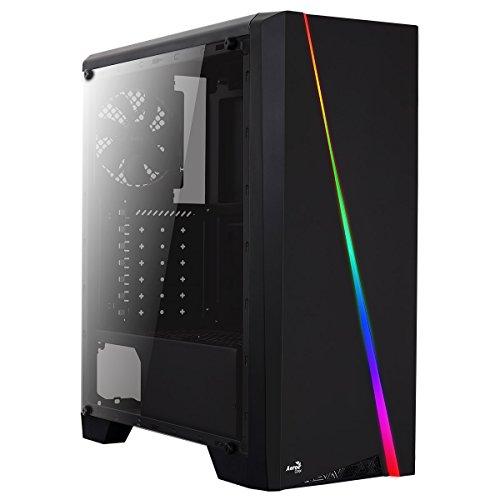 Aerocool CYLON, caja de PC ATX, RGB 13 modos, ventilador trasero 12cm, USB 3.0