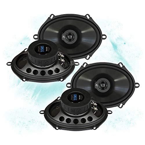 HIFONICS Front/Heck 5x7/15x20cm Auto Lautsprecher/Boxen/Speaker Komplett-Set kompatibel für Ford