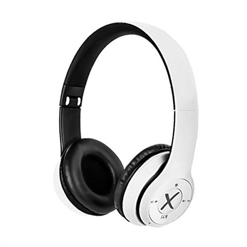 X-One – CBT1000W | Draadloze hoofdtelefoon met microfoon en gevoerde oorkussens, wit