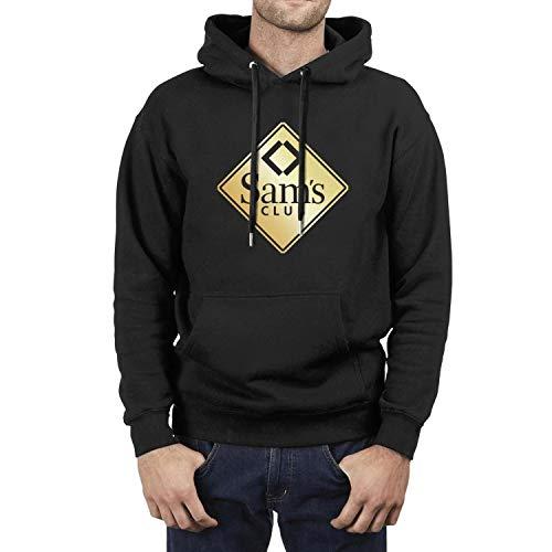 HYMANWASQHFT Sam's-Club-Golden-Logo- Hoodies for Mens Fleece Wool Warm Warm Sweatshirt