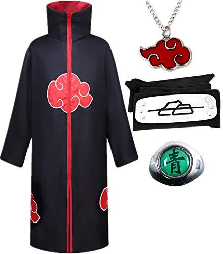 SUSICH Anime Naruto Akatsuki Deidara Cape Disfraz de Cosplay Fiesta de Carnaval de Navidad de...