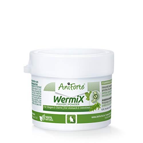 AniForte WermiX Pulver für Katzen 25g - Naturprodukt nach Wurmbefall mit Saponine, Bitterstoffe, Gerbstoffe, Wermut, Naturkräuter harmonisieren Magen & Darm