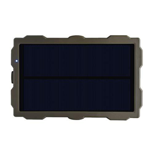 ABOOFAN Caméras Panneau Solaire Chargeur Portable Solaire Banque D Alimentation Étanche pour Camping en Plein Air Caméras de Téléphones Cellulaires Chargeur ( S15W )