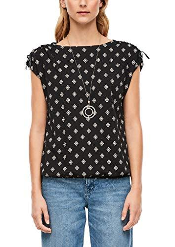 s.Oliver RED Label Damen Jerseyshirt mit Allover-Print Black AOP 44