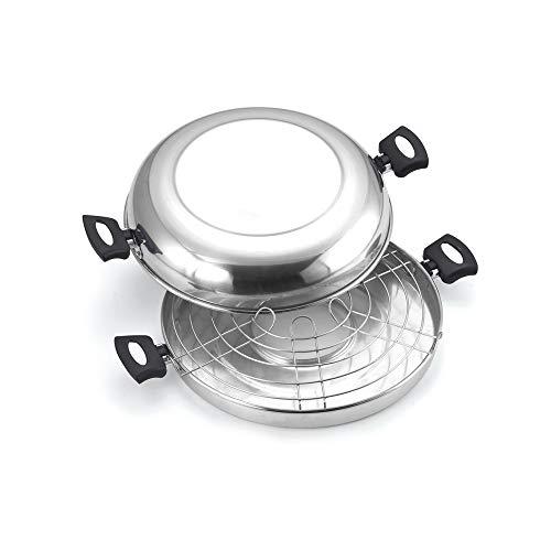 Churrasqueira para Fogão Polida N°30 na Caixa, Aluminio Oliveira, Prata, Pacote de 1