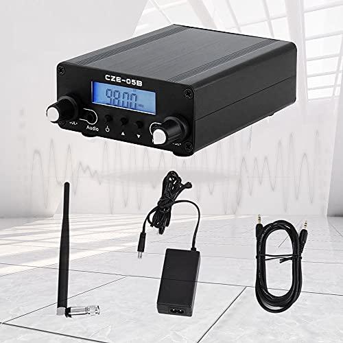TTLIFE Trasmettitore FM Mini Pll Lcd Cze-05b La gamma del trasmettitore di trasmissione è 76~108 MHz Trasmissione stereo remota Utilizzato nella connessione del microfono esterno dell'autoradio