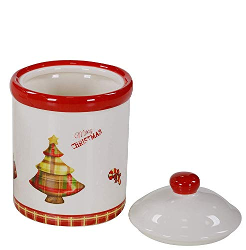 LORENZON GIFT SY-0054 Grote schommel van keramiek Merry Christmas, rood, één maat