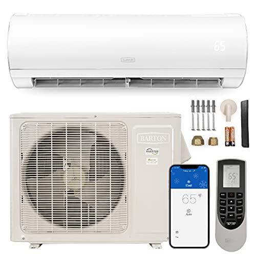 Barton 12,000 BTU Mini Split Air Conditioner Ductless Inverter System 220V, WIFI Smart Control with Remote Control, White