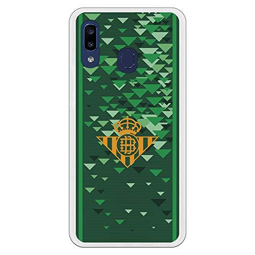 LA CASA DE LAS CARCASAS Funda Oficial Real Betis Balompié Escudo Amarillo para Samsung Galaxy A20e