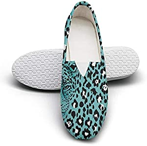 Leopard Peonies Floral Animals Garden Flowers Beautiful Women Cloth Shoes for Womens Customize Skid-Proof