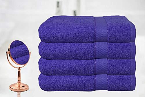 4 x Bain De Luxe 100/% Coton Égyptien Doux Serviette Set Serviette 500gsm aubergine
