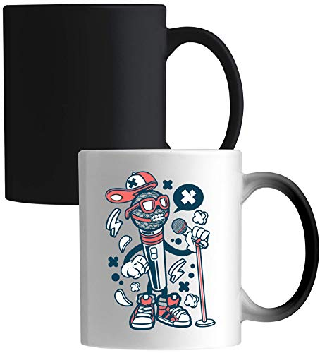 Iprints Cartoon Style Microfoon Rap Hip Hop Urban Ceramic Magic Cup