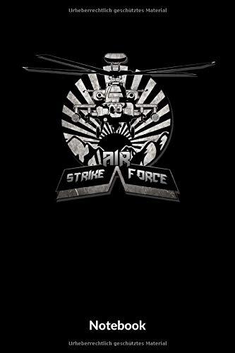 Air Strike Force Notebook: A5 Kariertes Notizbuch für Soldaten der Bundeswehr! Als Geschenk zum Jahrestag, Valentinstag, Hochzeitstag oder Weihnachten