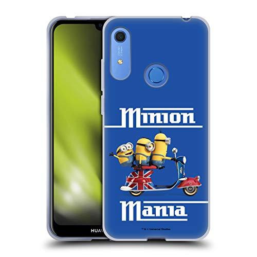 Head Case Designs Licenciado Oficialmente Minions Union Jack Scooter Minion Invasión Británica Carcasa de Gel de Silicona Compatible con Huawei Y6 / Y6s (2019)