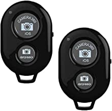 2 Pack Bluetooth Camera Remote Control Shutter for Smart Phones, Wireless Camera Remote Control Compatible with iPhone/Android Phones, Suitable for Gift Giving and Photo Taking