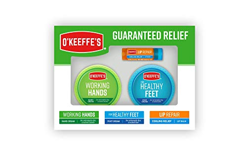 O#039Keeffe#039s Giftbox including Cooling Relief Lip Repair Stick Working Hands Jar and Healthy Feet Jar