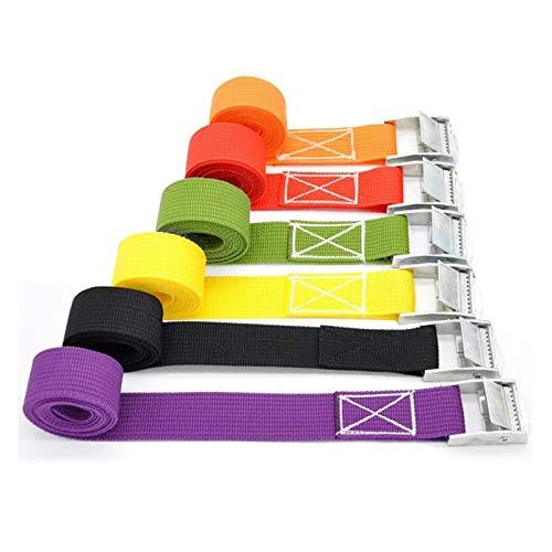 HLWJ Hundido 1M Cuerda de Remolque con Hebilla de Metal, usada for el Equipaje, Coches y Motos Hebilla de Correas (Color : Yellow)