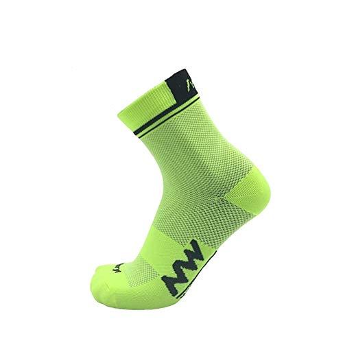 IN THE DISTANCE Calcetines Invierno de los Hombres de Verano de compresión montaña Que compite con los Calcetines de la Bici (Color : 5se NW Green)