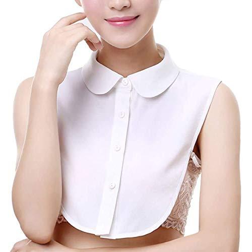 gdwiuv7 Frauen Kragen Abnehmbare Hälfte Shirt Bluse Damen Blusenkragen Cotton Kragen Abnehmbarer Kragen Fake Kragen