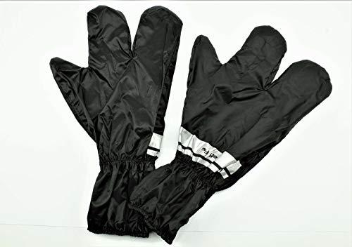 Regen Handschuhe Regen Überzieher, universal, schwarz mit Reflex Streifen