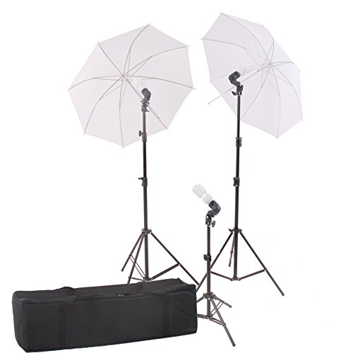StudioFX Photography Photo Portrait Studio 600W Day Light Umbrella Continuous Lighting Kit by Kaezi CHDK3